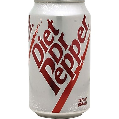 Diet Dr Pepper, 12 oz. Cans, 24/Pack