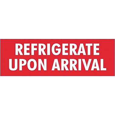 Tape Logic Refrigerate Upon Arrival Staples® Shipping Label, 4in. x 1-1/2in., 500/Roll