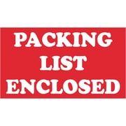 Tape Logic Packing List Enclosed Staples® Shipping Label, 5 x 3, 500/Roll