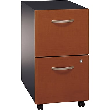Bush Westfield 2-Drawer File, Autumn Cherry/Graphite Gray