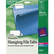 Avery® Hanging File Folder Tabs, White, 90/Pack (05567/08211)