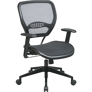 Office Star SPACE® Air Grid™ Deluxe Mid-Back Mesh Manager's Chair, Black