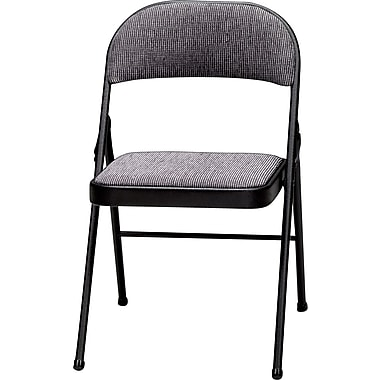Sudden Comfort Folding Chairs, Black, 4/Pack