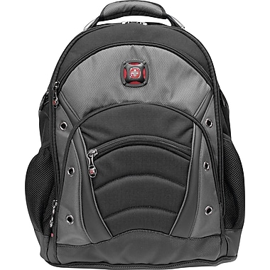 SwissGear® Synergy Laptop Backpack, Black/Grey, 15.6in.