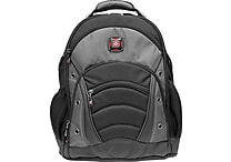 SwissGear® Synergy Laptop Backpack, Black/Grey, 15.6'