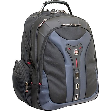 SwissGear® Pegasus Laptop Backpack, Black/Blue, 17in.