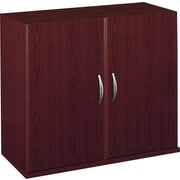 Bush Business Westfield Half-Height 2 Door Kit, Cherry Mahogany, Installed