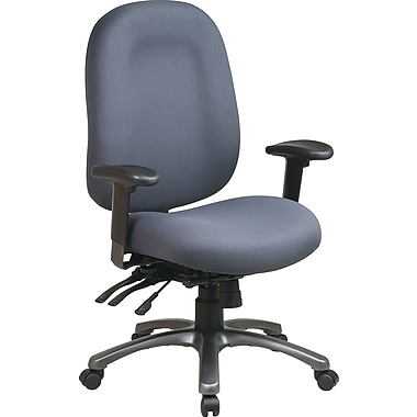 Office Star™ Fabric Computer and Desk Office Chair, Gray, Adjustable Arm (8511-226)