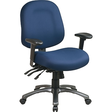 Office Star Pro-Line II™ Fabric Ergonomic Mid-Back Task Chair, Navy