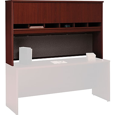 Bush Westfield 72in. 4-Door Hutch, Cherry Mahogany, Fully assembled