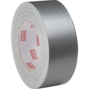 Staples® Cloth Utility Duct Tape, Silver, Standard Grade, 3in. x 60 yrds, 16/Case
