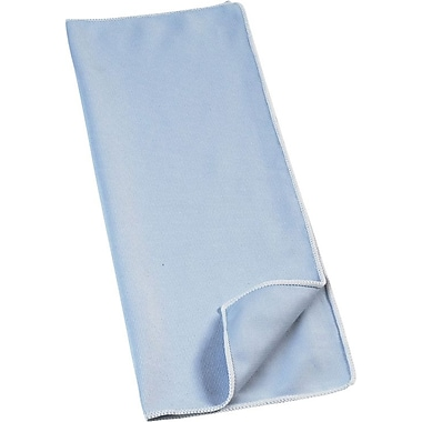 Rubbermaid HYGEN™ Microfiber Glass and Mirror Wiping Cloths, Blue, 16in., 12/Pack