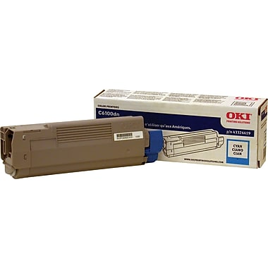 Okidata Cyan Toner Cartridge (43324419)