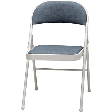 Sudden Comfort Folding Chairs, Gray, 4/Pack