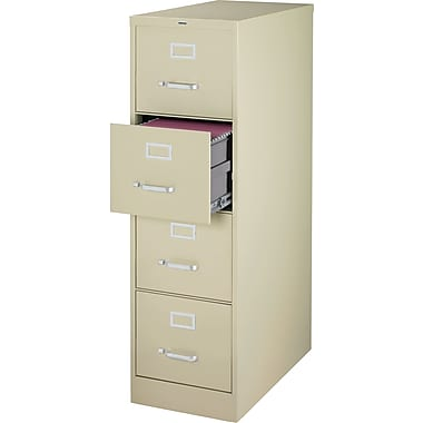 Staples Vertical File Cabinet, 25in. 4-Drawer, Legal Size, Putty