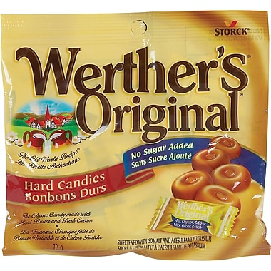 Werther's Original - Bonbons, aucun sucre ajouté, 70 g
