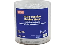 Staples® Large Bubble Wrap®, 12' x 30'