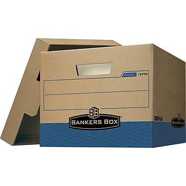 Bankers Box Maximum-Strength, 100% Recycled R-Kive Storage Boxes