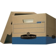Bankers Box Maximum-Strength 100% Recycled R-Kive Storage Boxes, 4/Pack