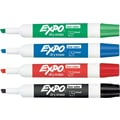Expo® Low Odor Chisel Tip Dry-Erase Markers, Assorted Primary, 4 Pack