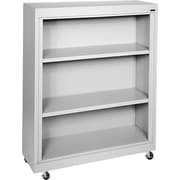Sandusky 3-Shelf Mobile Bookcase, Gray