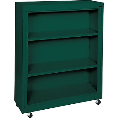 Sandusky 3-Shelf Mobile Bookcase, Green