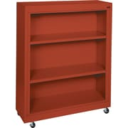 Sandusky 3-Shelf Mobile Bookcase, Red