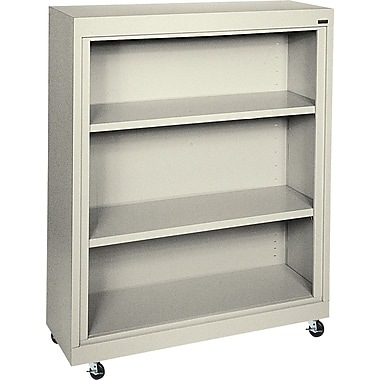 Sandusky 3-Shelf Mobile Bookcase, Putty