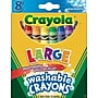 Crayola® Large Washable Crayons, 8/Box