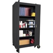 "Sandusky Extra Large Mobile Storage Cabinet, 60""H x 46""W x 24""D, Black"