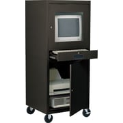 "Sandusky Computer Cabinet, 63""H x 26""W x 24""D, Black"