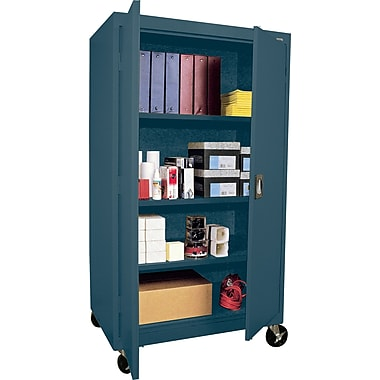 Sandusky Extra Large Mobile Storage Cabinet, 60in.H x 46in.W x 24in.D, Charcoal