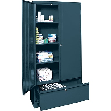 Sandusky Large File and Store Cabinet, 72in.H x 36in.W x 18in.D, Charcoal