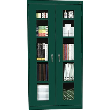 Sandusky Clear View Tall Storage Cabinet, 72in.H x 36in.W x 18in.D, Green