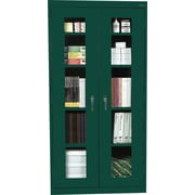 "Sandusky Clear View Tall Storage Cabinet, 72""H x 36""W x 18""D, Green"
