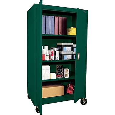 Sandusky Extra Large Mobile Storage Cabinet, 60in.H x 46in.W x 24in.D, Green