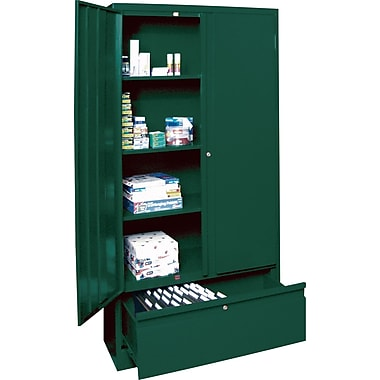 Sandusky Large File and Store Cabinet, 72in.H x 36in.W x 18in.D, Green