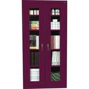 Sandusky Clear View Tall Storage Cabinet, 72H x 36W x 18D, Burgundy