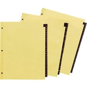 "Avery Red Leather Tab Dividers, A-Z Tabs,  Buff, 8 1/2"" x 11"""