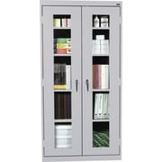 Sandusky Clear View Tall Storage Cabinet, 72H x 36W x 18D, Dove Gray