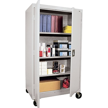 Sandusky Extra Large Mobile Storage Cabinet, 60in.H x 46in.W x 24in.D, Dove Gray