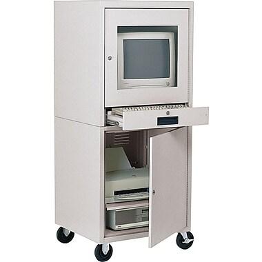 Sandusky Computer Cabinet, 58in.H x 26in.W x 24in.D, Dove Gray