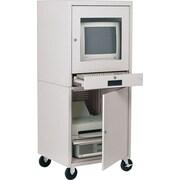 "Sandusky Computer Cabinet, 58""H x 26""W x 24""D, Dove Gray"