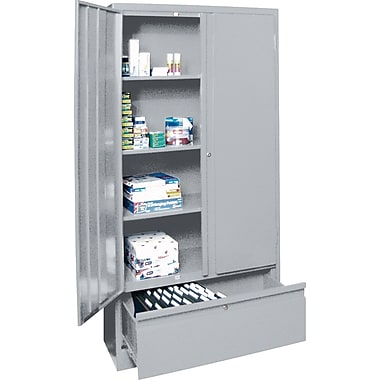 Sandusky Large File and Store Cabinet, 72in.H x 36in.W x 18in.D, Dove Gray
