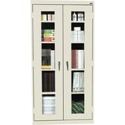 Sandusky Clear View Tall Storage Cabinet, 72H x 36W x 18D, Putty