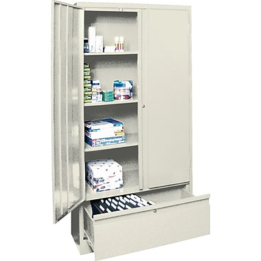 Sandusky Large File and Store Cabinet, 72in.H x 36in.W x 18in.D, Putty