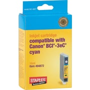Staples® Compatible Cyan Ink Cartridge, Canon BCI-3eC (SIC-40CY)