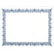 "Geographics Blank Award Certificates, 11"" x 8-1/2"", Blue Border"