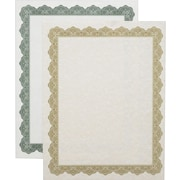 "Geographics Blank Award Parchment Certificates, 11"" x 8-1/2"", Green Border"