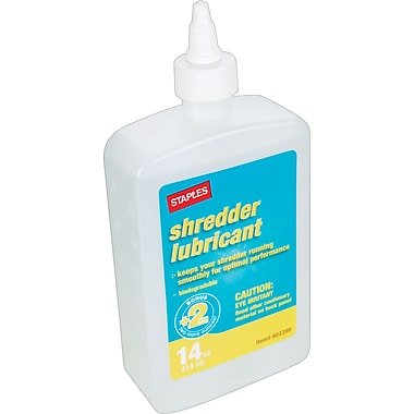 Staples Shredder Oil, 14 oz.
